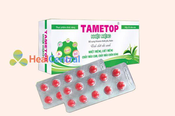 Thuốc nhiệt miệng Tametop còn giúp ngừa chảy máu chân răng