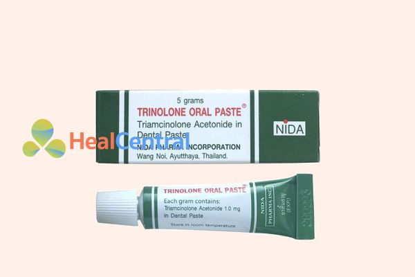 Kem trị nhiệt miệng Trinolone Oral Paste thấm sâu giúp các vết loét nhanh lành nhất