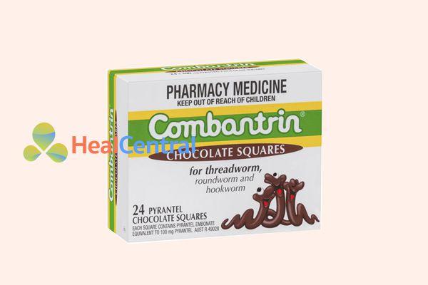 Kẹo Socola diệt giun Combantrin của Úc