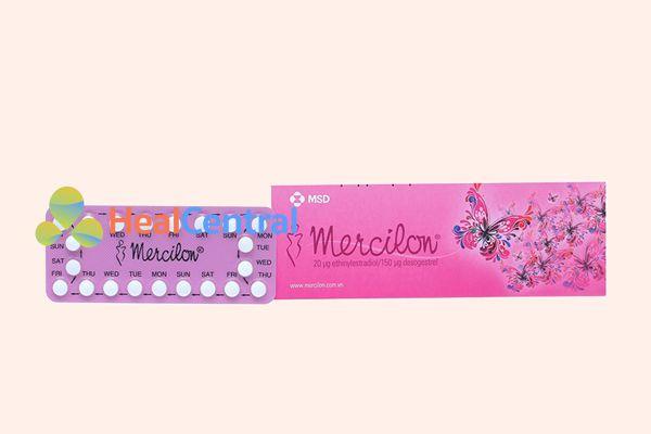 Thuốc tránh thai 21 viên Mercilon