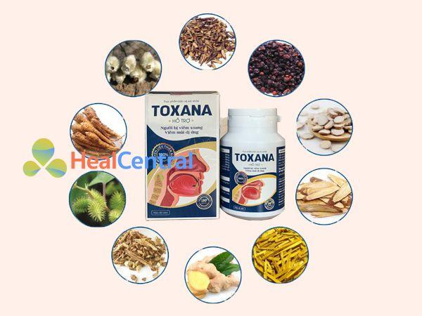 Các thành phần có trong Toxana