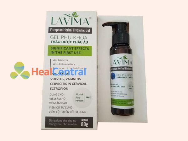 Hình ảnh hộp gel phụ khoa Lavima