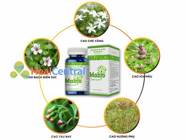 Các thành phần cao dược liệu có trong Mabio