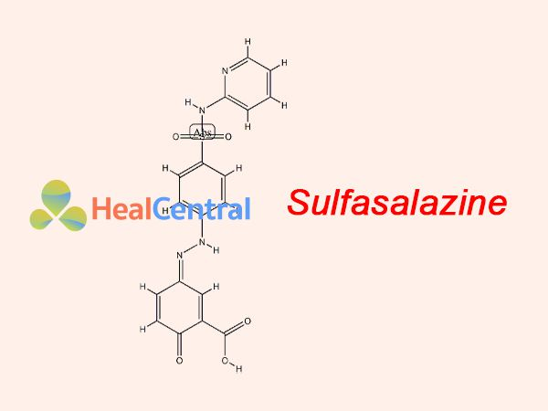 Công thức của Sulfasalazine thành phần của Salazopyrine
