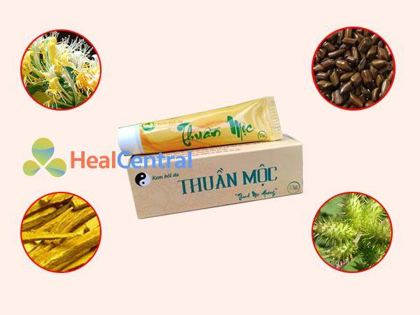 Các thảo dược chính có trong kem bôi da Thuần Mộc