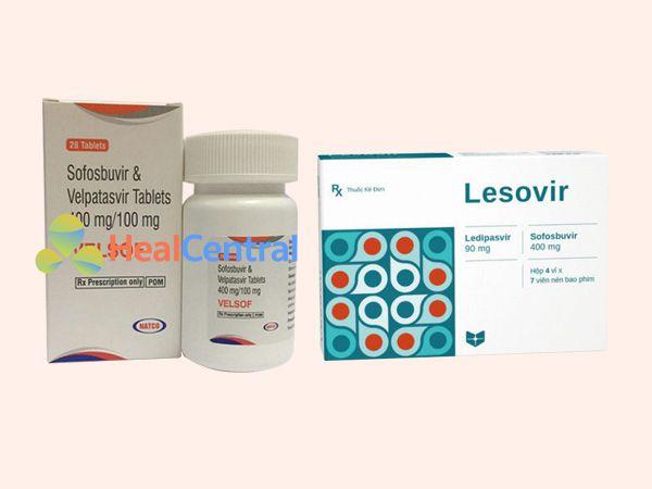 Một số chế phẩm thuốc mới nhất hiện nay chứa Sofosbuvirvà Ledipasvir