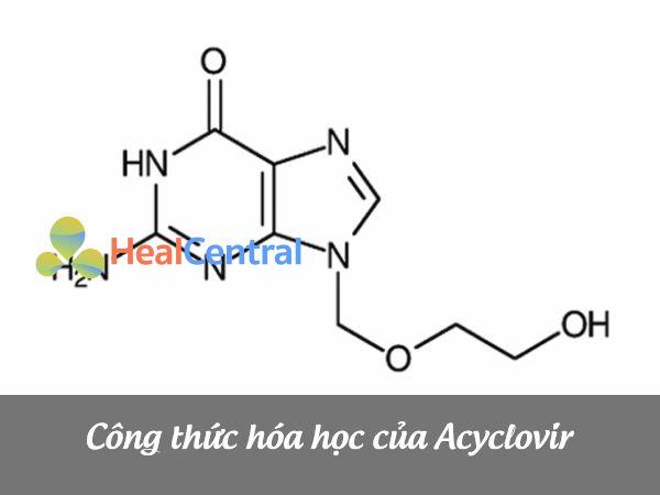 Công thức cấu tạo của Acyclovir