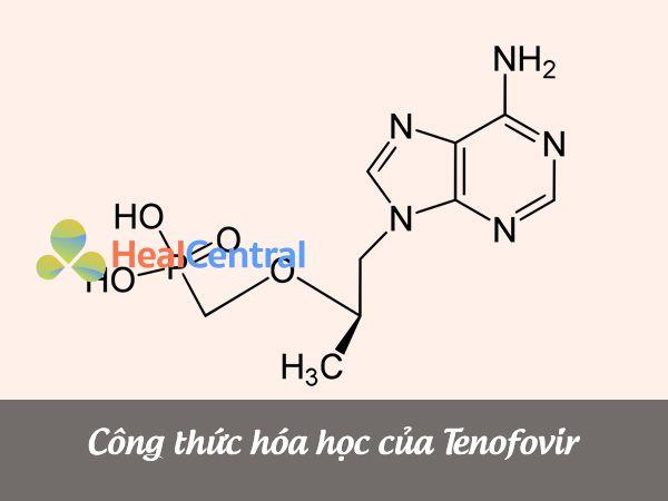 Công thức cấu tạo của Tenofovir