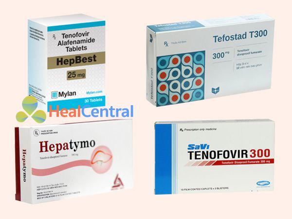 Một số chế phẩm thuốc có chứa Tenofovir