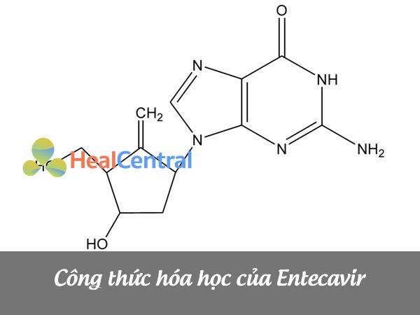 Công thức cấu tạo của Entecavir