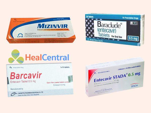 Một số chế phẩm thuốc có chứa Entercavir