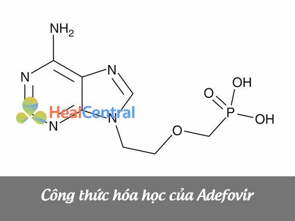 Công thức cấu tạo của Adefovir