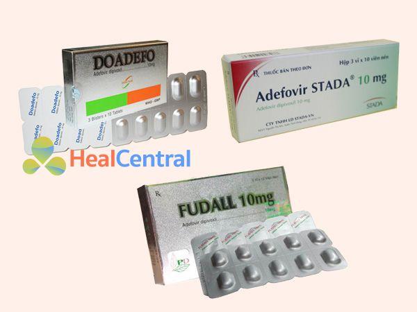 Một số chế phẩm thuốc có chứa Adefovir