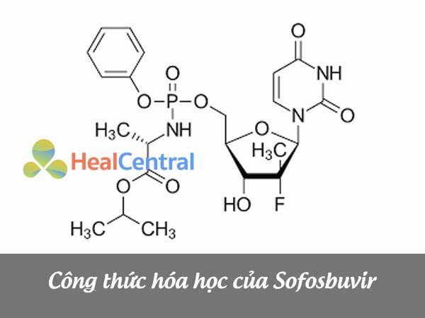 Công thức cấu tạo của Sofosbuvir