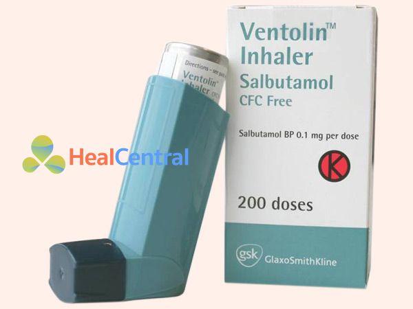 Hình ảnh thuốc Ventolin Inhaler giúp trị hen phế quản
