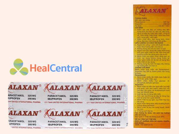 Hình ảnh Alaxan mặt bên chứa thông tin thành phần