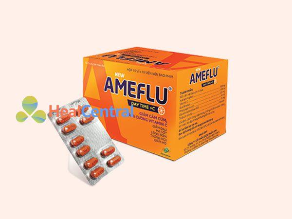 Mỗi hộp Ameflu gồm 10 vỉ x 10 viên