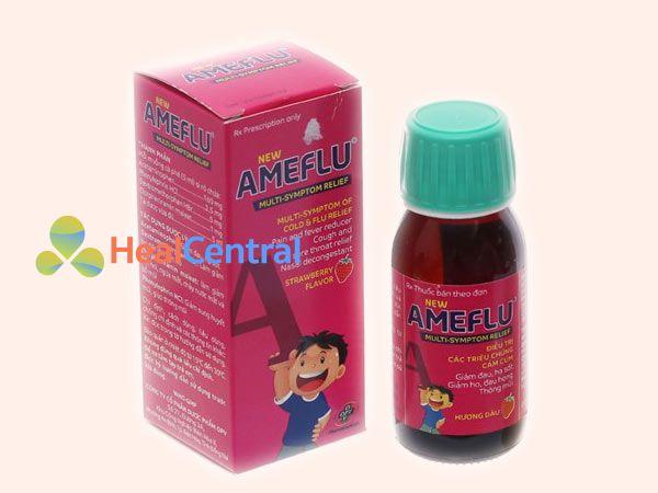 Ameflu dạng siro hương dâu dành cho trẻ em