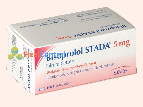 Hình ảnh Bisoprolol Stada dạng hộp 100 viên