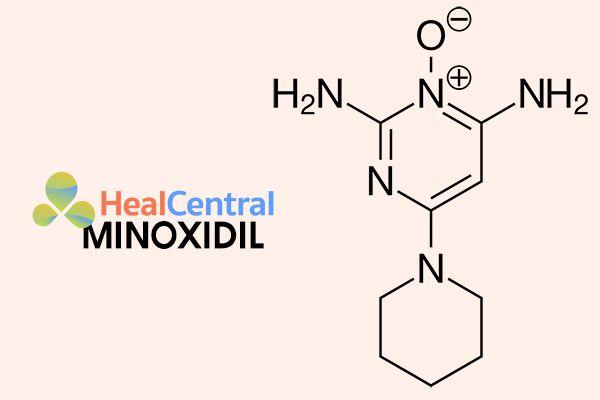 Cấu trúc hóa học của Minoxidil