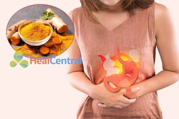 Tinh bột nghệ được sử dụng trong điều trị đau dạ dày cấp và mạn tính