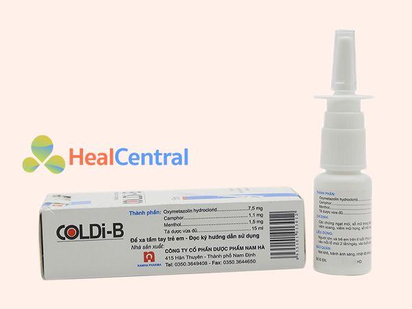 Hình ảnh thuốc Coldi B mặt sau