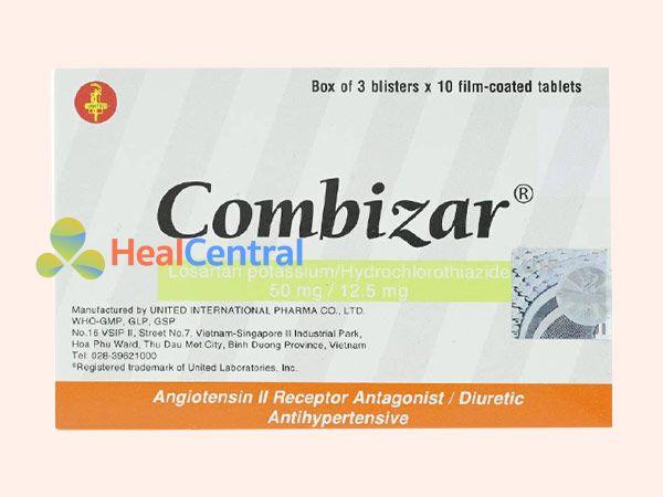 Hình ảnh thuốc Combizar mặt trước