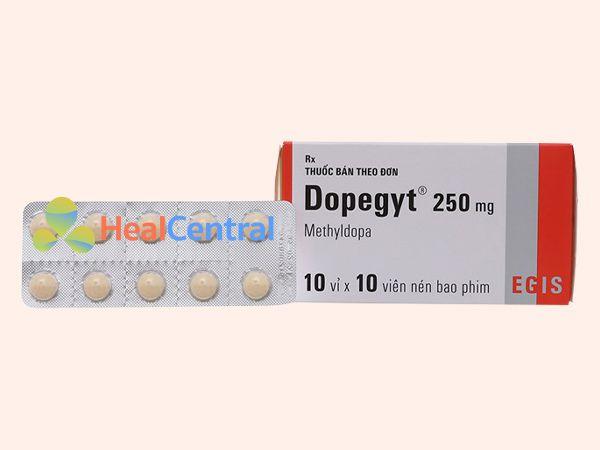 Không sử dụng thuốc Dopegyt chung với thuốc IMAO