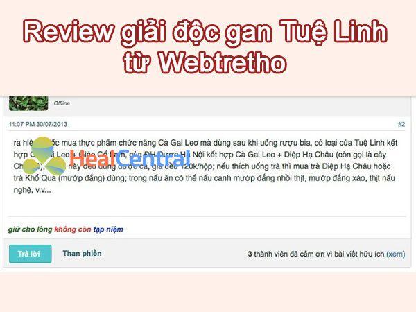 Review Giải độc gan Tuệ Linh