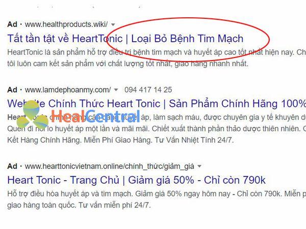 Heart Tonic bị quảng cáo không đúng về công dụng