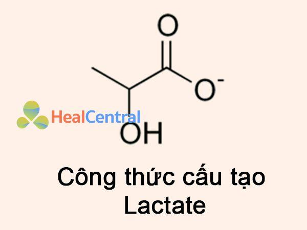 Công thức cấu tạo Lactate