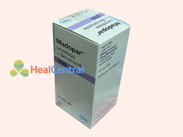Hình ảnh hộp thuốc Madopar 250mg