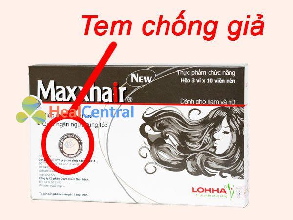 Hình ảnh tem chống giả Maxxhair