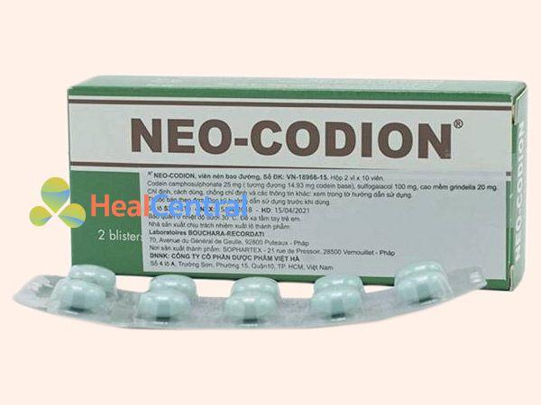 Hình ảnh thuốc Neo Codion được bán ở nhiều nơi