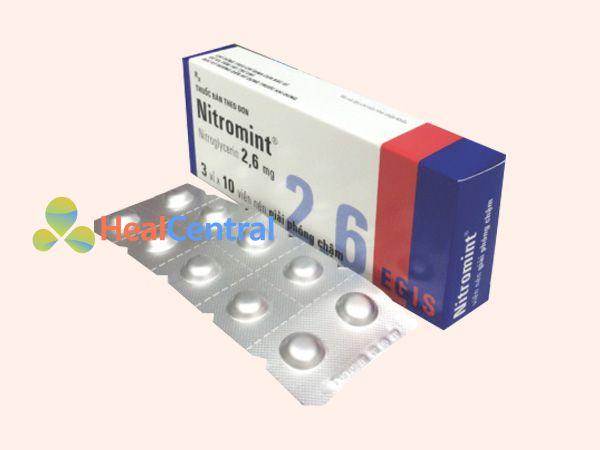 Thuốc Nitromint - điều trị cơn đau thắt ngực
