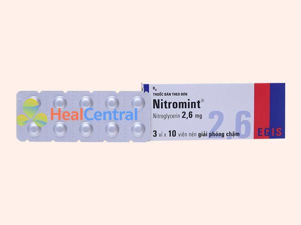 Hình ảnh vỉ thuốc Nitromint