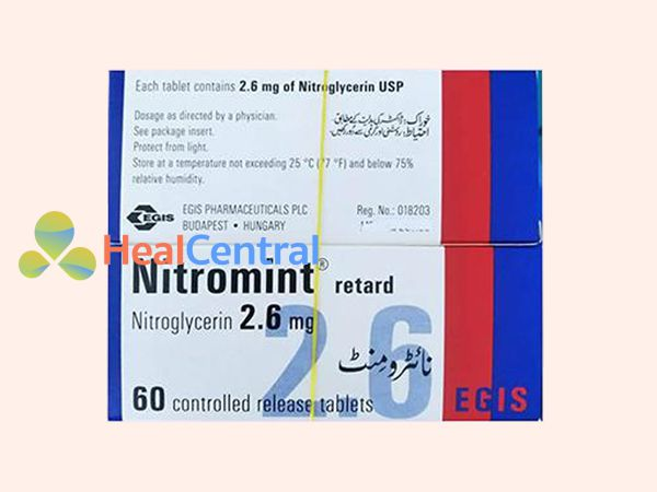 Thuốc Nitromint Retard 2.6mg