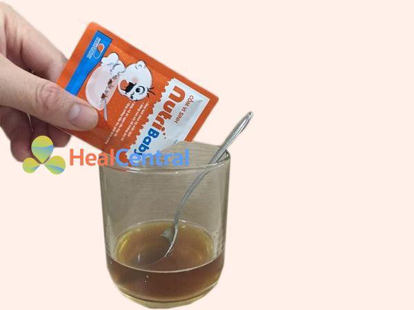 Cách dùng Cốm vi sinh Nutribaby