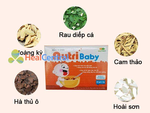 thành phần dược liệu của Nutribaby