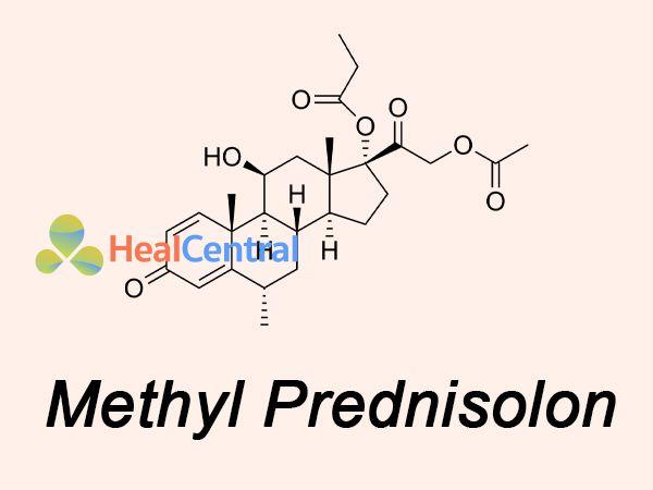 Công thức Methyl Prednisolon - thành phần Thuốc Solupred 5mg