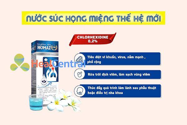 Tác dụng của nước súc họng miệng Homaz One