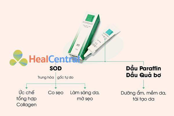 Tác dụng của Sodermix Cream lên sẹo
