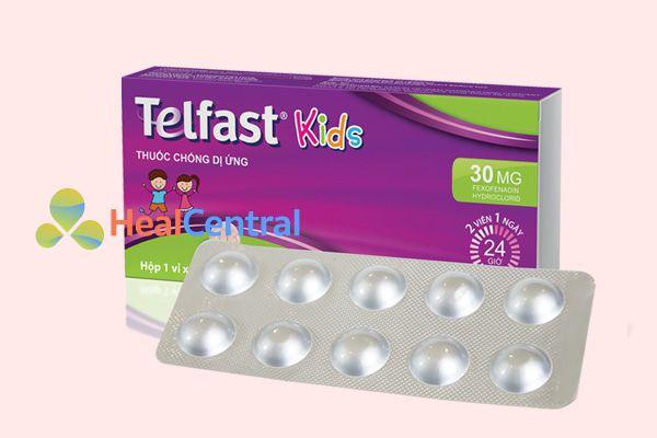 Hình ảnh: hộp thuốc chống dị ứng Telfast Kids 30mg