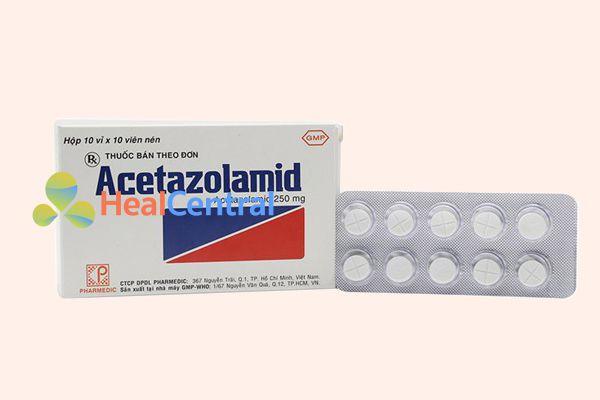Thuốc Acetazolamid 250mg