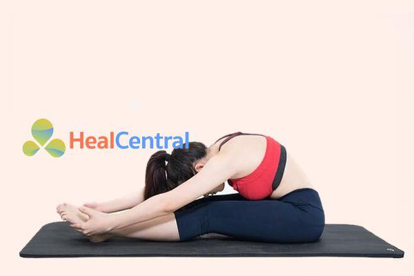Tư thế gập người (Seated Forward Bend hoặc Intensive Dorsal Stretch)