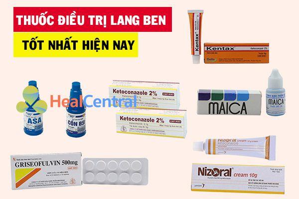 Top 7 thuốc điều trị lang ben nhanh và hiệu quả nhất