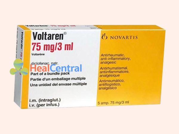 Hình ảnh thuốc Voltaren được bán ở nhiều nơi