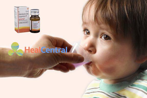 Cách dùng thuốc Zentel cho trẻ em