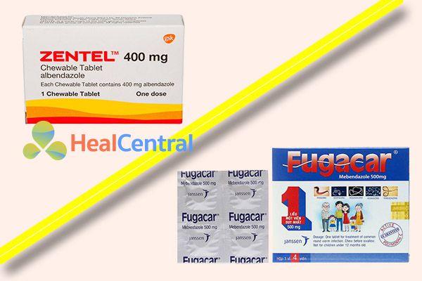 So sánh Zentel và Fugacar