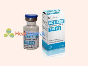 Thuốc tiêm Actixim chứa thành phần Cefuroxim
